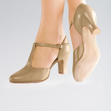 So Danca T-Bar Buckle Fastening Elasticated Gussets 2.5 Inches Heel Shoes