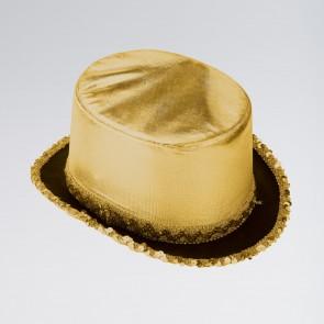 Lamé Top Hat with Sequin Trim