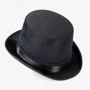 Black Velour Top Hat