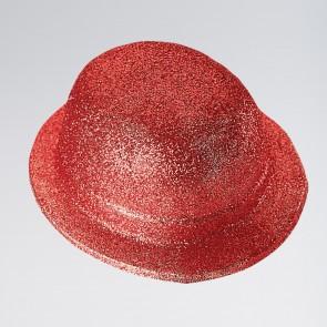 Plastic Glitter Bowler Hat