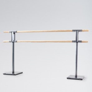 Dinamica Pina Freestanding Double Ballet Barre with Wheels