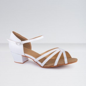 1st Position Satin Low Heeled Ballroom Shoes