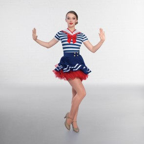 1st Position Striped Sequin Character Unitard