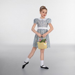 1st Position Frill Collared Floral Dress