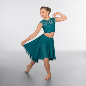 1st Position Lace Sequin Dipped Hem Lyrical Two Piece