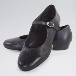1st Position Buckle Strap Leather Upper Tap Shoe