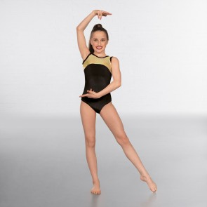 1st Position Taylor Velour / Hologram Sleeveless Leotard