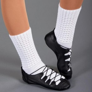 1st Position Leather Highland Shoes (Black)