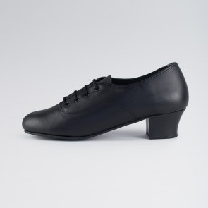 1st Position Leather Cuban Heel Oxford Shoes