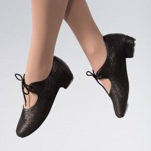 1st Position Hologram Low Heel Tap Shoe