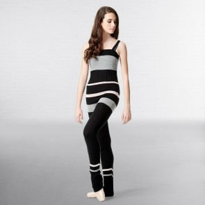 Lulli Striped Knitted Warm Up Camisole Unitard