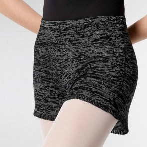 Lulli Knitted Melange Warm Up  Shorts