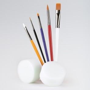 White Large Flat Brush