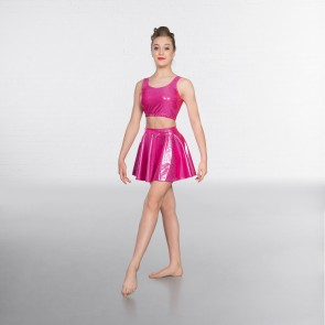 1st Position Metallic Crop Top Cerise