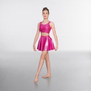 1st Position Metallic Circular Skirt Cerise