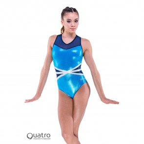 Quatro Legend Racer Gymnastics Short Sleeve Leotard
