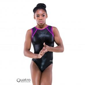 Quatro Gymnastics Short Sleeve Leotard