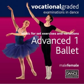 RAD Advanced 1 Male/Female Ballet CD