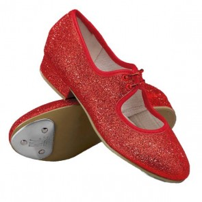 Roch Valley Dorothy Red Glitter Tap Shoes