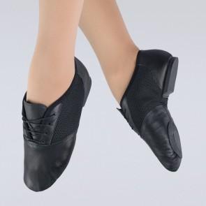 1st Position Sport Mesh Centre Leather Split Sole Jazz Shoe