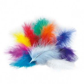 Marabou Feathers - Pack of 12