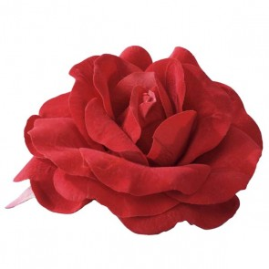 Large Red Rose On Pin