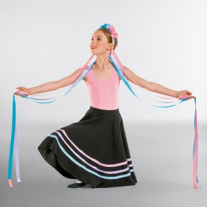 Floral Long Ribbon Headband Pastel
