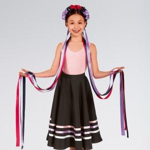 Floral Long Ribbon Headband Dark