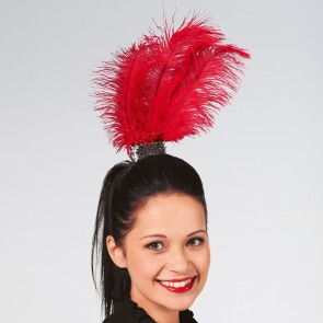 Feather Plume Headdress Red