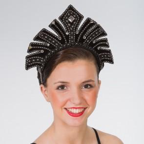 Black Carnival Headdress with Gems