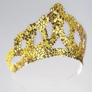 Gold Sequinned Tiara Large