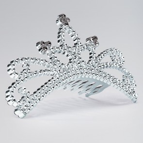 Plastic Tiara on Comb (Design may Vary)