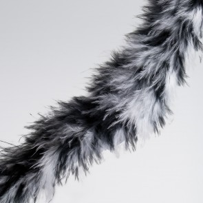 Black/White/Grey Animal Marabou Trim (2 metre)