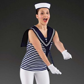 Sailor Girl Collar and Hat Set