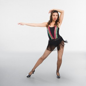 Multi Sequin Fringed Leotard