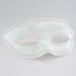 Silver Lurex Eye Mask with Ribbon Tie