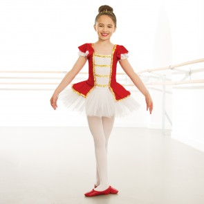 Red Velour Gold Trim Tutu