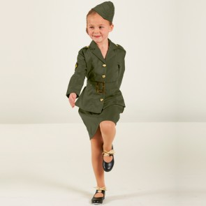 WW2 Army Girl Child Outfit