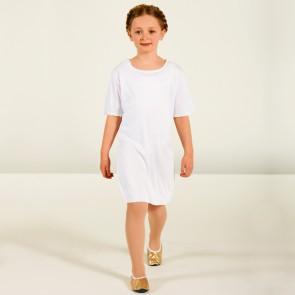 White Unisex Tunic - Child One Size