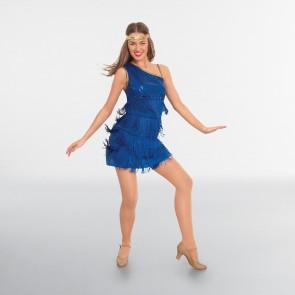 Royal Blue Sequin Flapper Dress Adult One Size