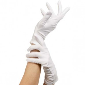 White Short Gloves - Child
