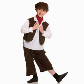 Old Fashioned Boy Costume (Brown)