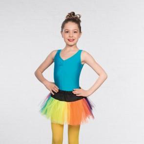 Crazy Chick Girls 3 Layer Rainbow Tutu Skirt