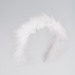White Marabou Alice Band